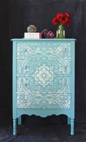 painting designs on furniture. Tiffany Blue Mediterranean Painted And Stenciled Beauty! Provence \u0026 Old White Chalk Paint ® Painting Designs On Furniture E