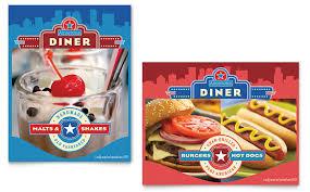 american template american diner restaurant poster template design