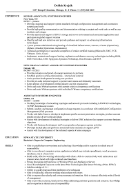 Associate Systems Engineer Resume Samples Velvet Jobs