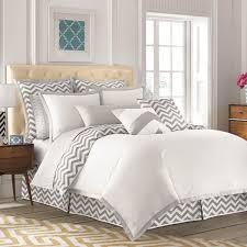 beauty grey chevron bedding sets project sewn