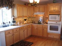 Kitchen Backsplash Ideas For Oak Cabinets Pleasant Brown Cabinet