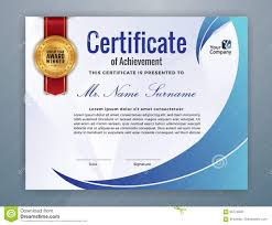 Corporate Certificate Template Multipurpose Modern Professional Certificate Stock Vector