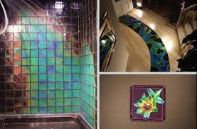 color changing bathroom tiles. Ultimate Bathroom Ideas: Enthralling Northern Lights Tiles Heat Activated Color Changing Of Tile From