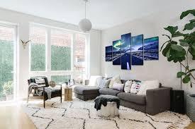 charm aurora borealis canvas print painting framed home wall decor art hd poster 5pcs lucky charm