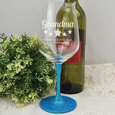 gifts for grandma grandma personalised engraved wine glass free