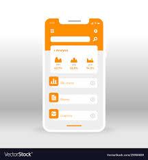 Orange Economy Ui Ux Gui Screen For Mobile Apps