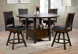 dining room table with swivel chairs new jersey 5 counter height dining set round table lazy dining room