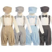Boys Suspender Knickers Hat