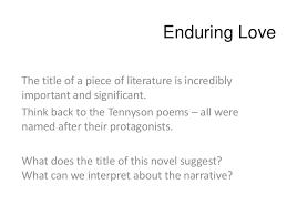 love essay questions enduring love essay questions