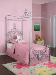 Bedroom Design Cute Pink Full Size Canopy Bed For Girls Kids Beds ...