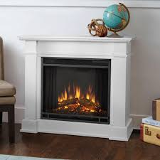 real flame devin 36 in electric fireplace in white