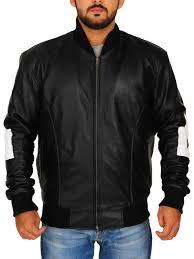 black 8 ball mens er leather jacket