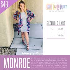 Lularoe Monroe Size Chart Pin By Lularoe Darlene Celano On Lularoe Size Charts In 2019