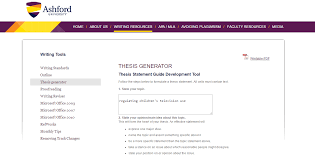 online tools and resources for academic essay writing thesis generator