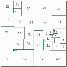 Math Games: Square Packing & Robert Reid's solution for 43 squares Adamdwight.com