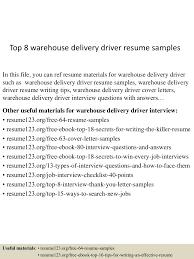 Delivery Driver Resume Top10000warehousedeliverydriverresumesamples10050530010000100737lva100app6100009100thumbnail100jpgcb=10010032975705 72