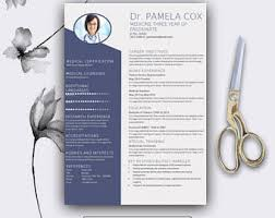 Modern Healthcare Resume Teacher Cv Professional Resume Template Cover Letter For Etsy
