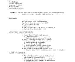 High School Cv Template - April.onthemarch.co