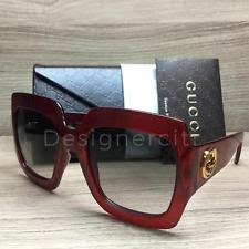 gucci 0053s. gucci gg0053s 0053s sunglasses red glittered 003 authentic 54mm 0053s g