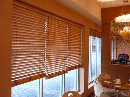 ... Blinds, Wooden Blinds Lowes Lowes Sidelight Blinds Large Window With  Wooden Blinds Restaurant Modern Interior ...