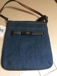 Coach Swagger Swingpack Crossbody Bag Denim F38076 NWT
