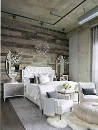 Inspiration for a mid-sized industrial master dark wood floor bedroom  remodel in Denver