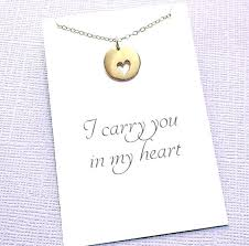 bereavement gifts loss of a child miscarriage necklace heart charm infant jewelry sympathy gift card gold bereavement gifts