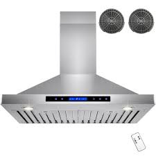 Exhaust Hood Filter Akdy 30 In Convertible Kitchen Wall Mount Range Hood In Stainless