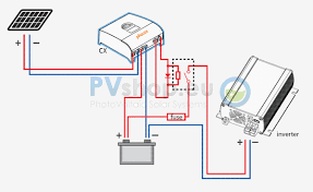 pv solar system diagrams standard pv off grid diagram 230v ac inverter from 12 24 · mppt · phocos mppt charge controller