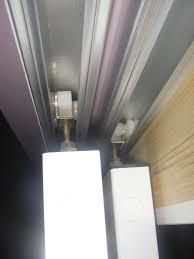 fix sliding closet door off track source closet doors off track thesecretconsul com