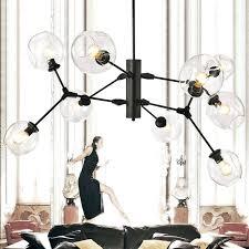 black modern chandelier ceiling fan with light