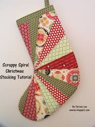 sew christmas stocking. Modren Christmas Scrappy Spiral Stocking Tutorial For Sew Christmas S