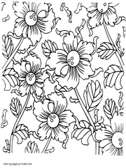 The function of a flower is to produce seeds through sexual reproduction. 130 Flower Coloring Pages For Adults Free
