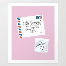 Lara jean doesn't look the least bit fazed but exchanges a knowing look with chris instead, a small she stands in the doorway, breathing deeply, hands on her knees, before standing straight and. To All The Boys I Ve Loved Before Peter Kavinsky And Lara Jean Letter Art Print By Catalinawilliams Society6