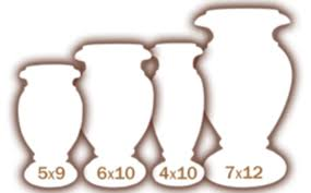 Granite Size Chart Granite Vases Wylie Monuments