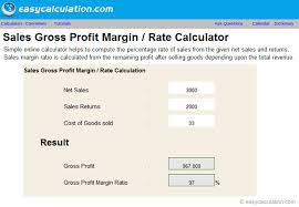 Gross Profit Formula Excel Excel Gross Profit Margin Calculator Spreadsheet Free Download