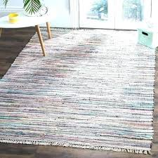 cotton area rugs rag rug hand woven grey multi 8x10