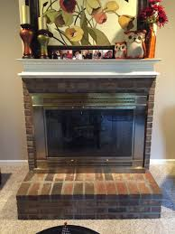 How To Whitewash Brick How To Whitewash Brick And Paint Your Brassy Fireplace Re Fabbed