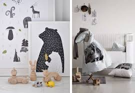 woodland animals in kids rooms by