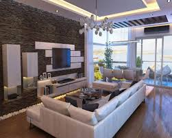 Amazing Wall Designs Paint And Elftug Stone Feature Wall Design Interior In Modern  Living Room Used White Sofa Furniture Decoration Ideas Awesome Design