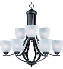 maxim lighting axis 9 light chandelier undefined