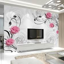 Small Picture Aliexpresscom Buy Customized 3D Flower Photo Wallpaper Living