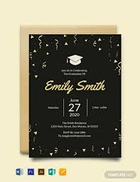 Graduation Templates Word Free Graduation Invitation Template Word Psd Indesign
