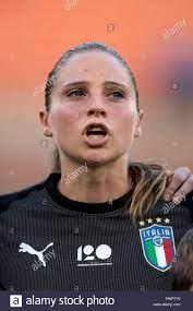 Laura Giuliani (Italien) während der FIFA-Frauenfussball-Weltmeisterschaft  Frankreich 2019 Qualifier Match zwischen Italien 1-0 Schweden bei Giovanni  Zini Stadion am 09 Oktober, 2018 in Cremona, Italien. Credit: Maurizio  Borsari/LBA/Alamy leben ...