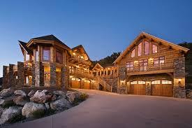 log home designers. side view log home designers