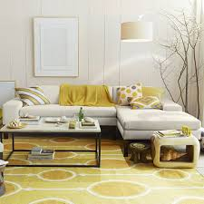 Yellow Living Room Decor Living Room Retro White Wooden Yellow Living Room Interiors On
