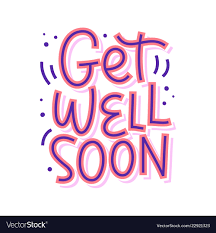 Get Well Soon Poster Get Well Soon Lettering Isolated On White