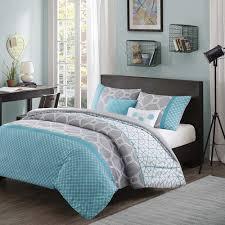 teal gray bedroom