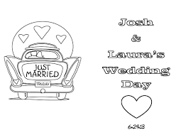 Free Kids Coloring Pages For Weddings With Front And Back Page Fine