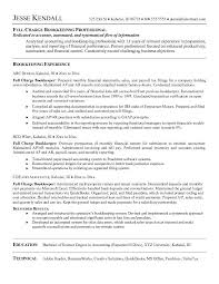 Bookkeeping Resume Samples JK Full Charge Bookkeeper experience